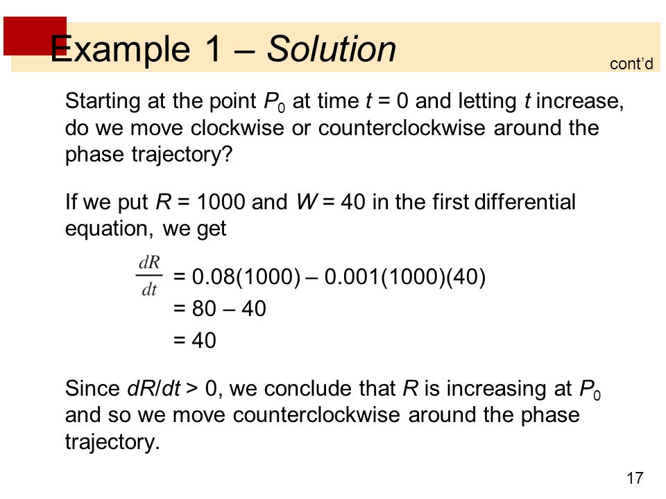 Example 1 – Solution cont'd.