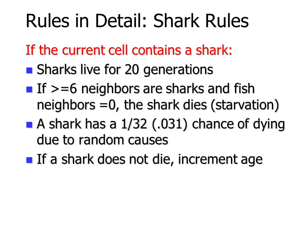 Rules in Detail: Shark Rules