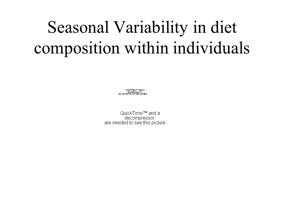 Seasonal Variability in diet composition within individuals