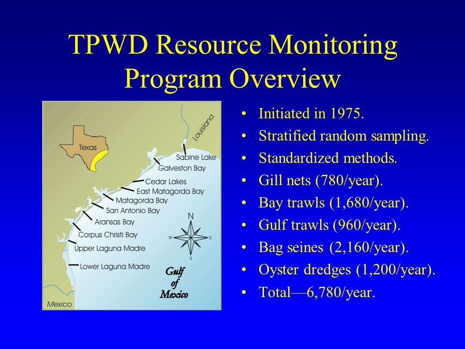 TPWD Resource Monitoring Program Overview