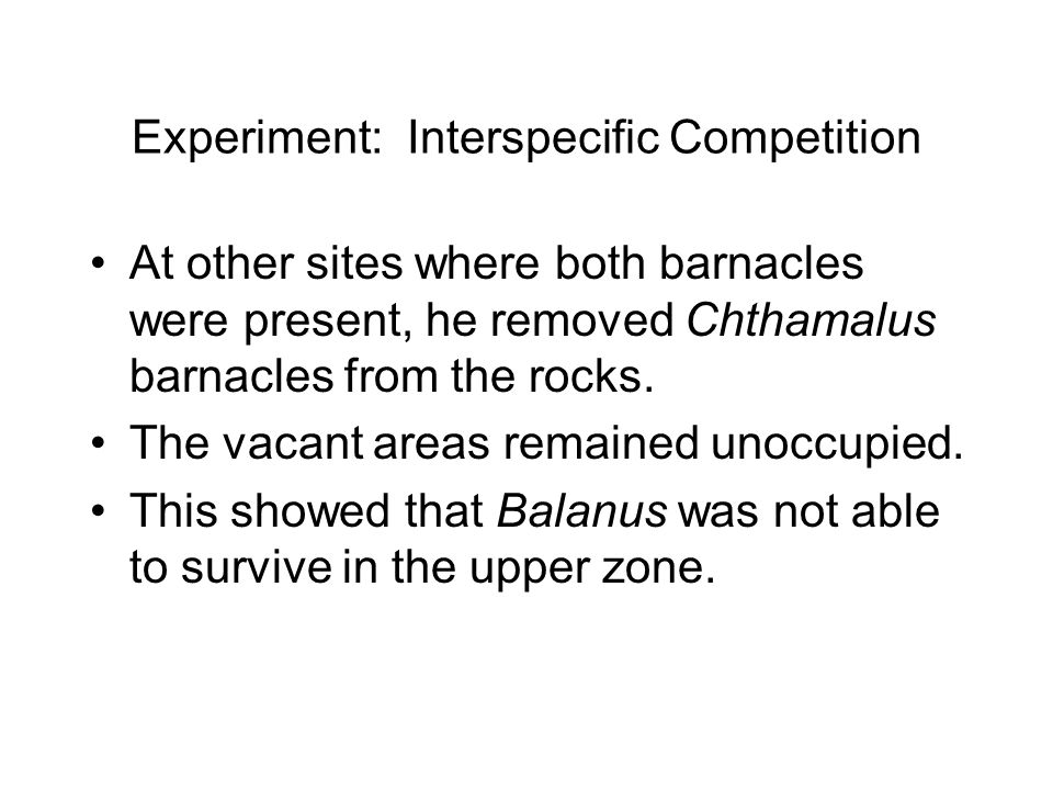 Experiment: Interspecific Competition