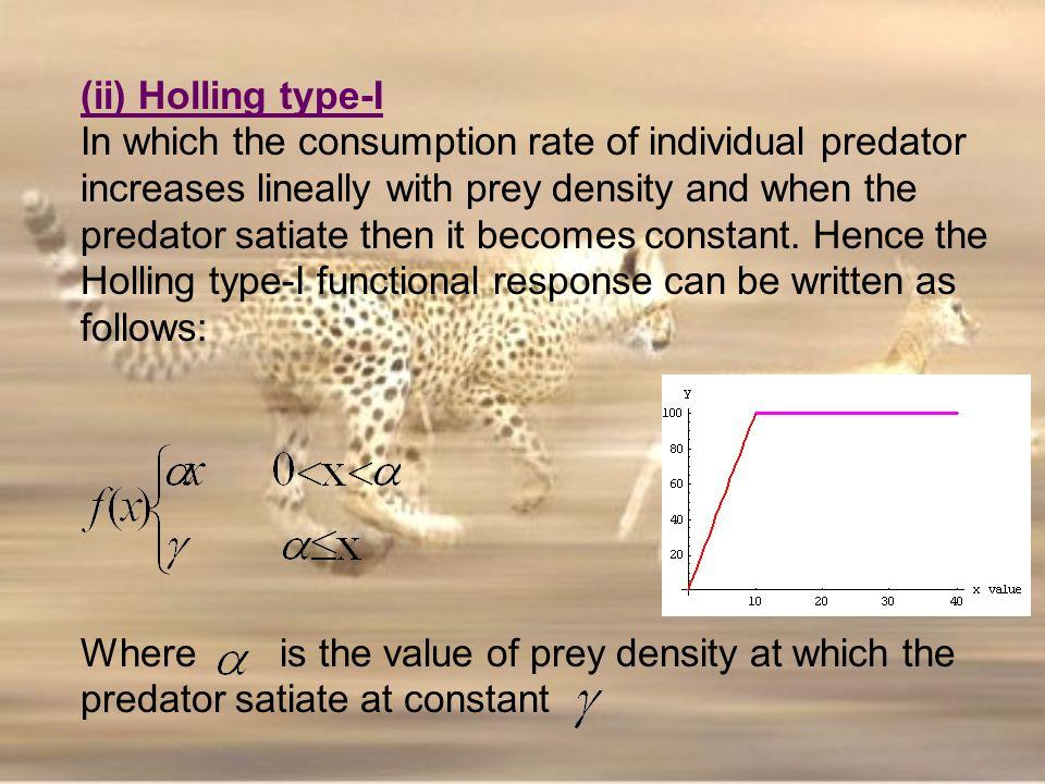 (ii) Holling type-I