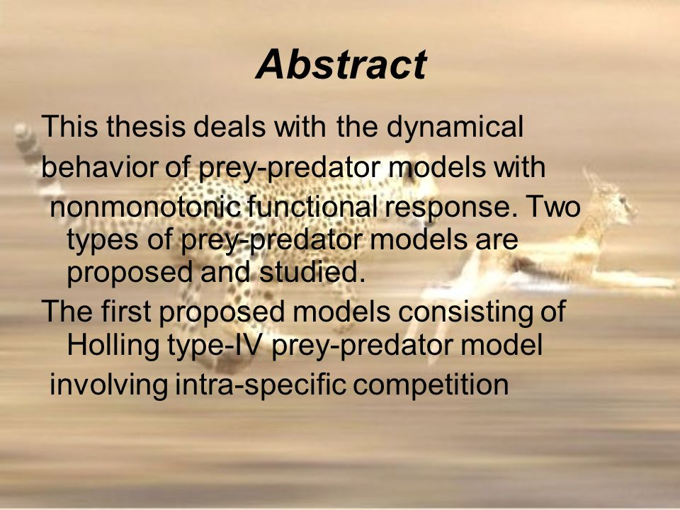 Abstract This thesis deals with the dynamical