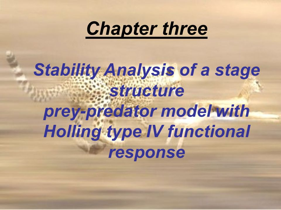 Chapter three Stability Analysis of a stage structure