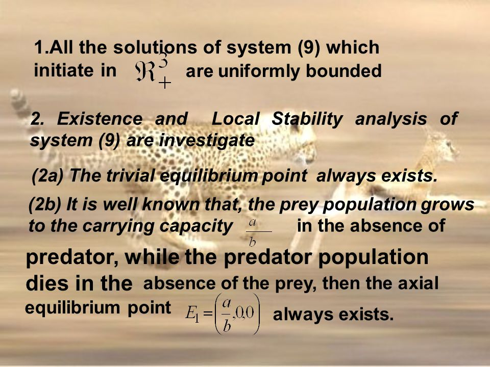 (2a) The trivial equilibrium point always exists.
