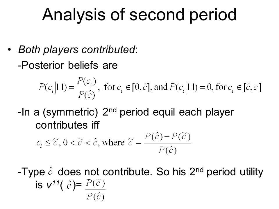 Analysis of second period