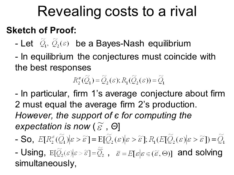 Revealing costs to a rival