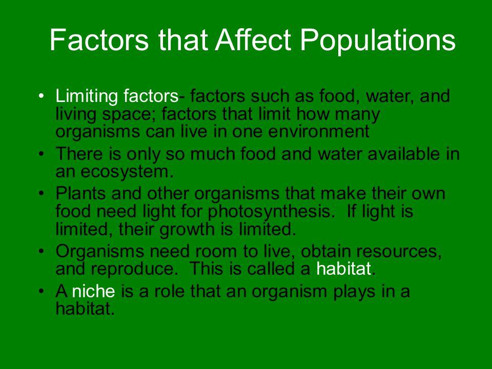 Factors that Affect Populations