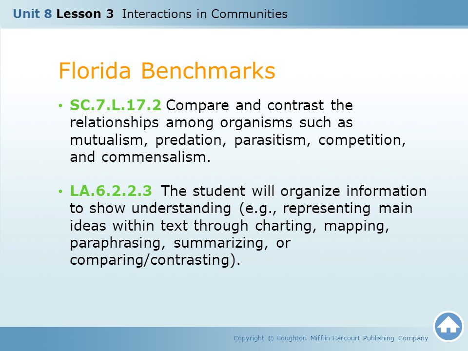 Unit 8 Lesson 3 Interactions in Communities