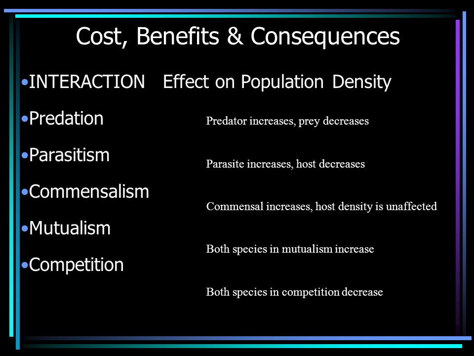 Cost, Benefits & Consequences
