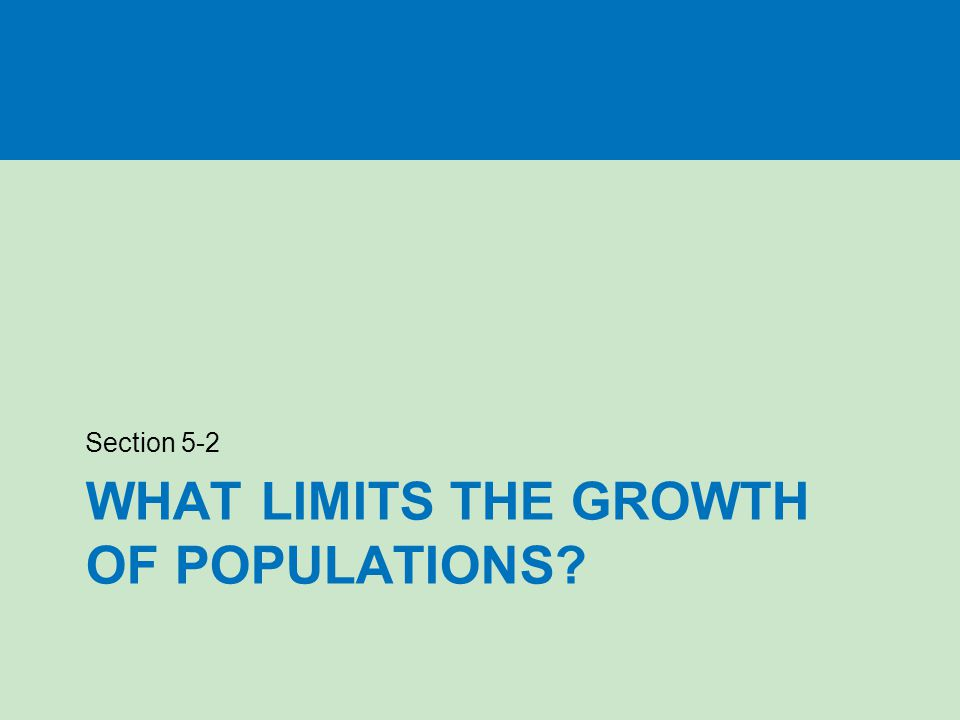 What limits the growth of populations
