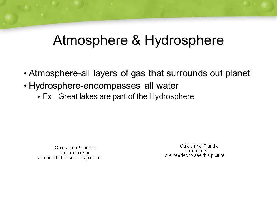 Atmosphere & Hydrosphere