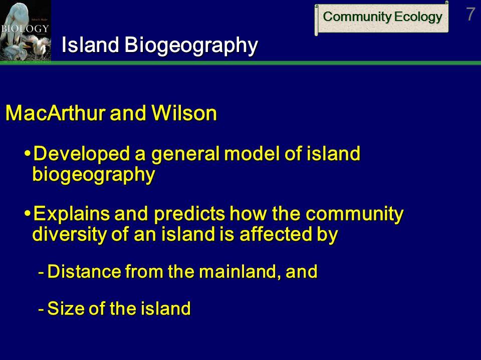 Island Biogeography MacArthur and Wilson