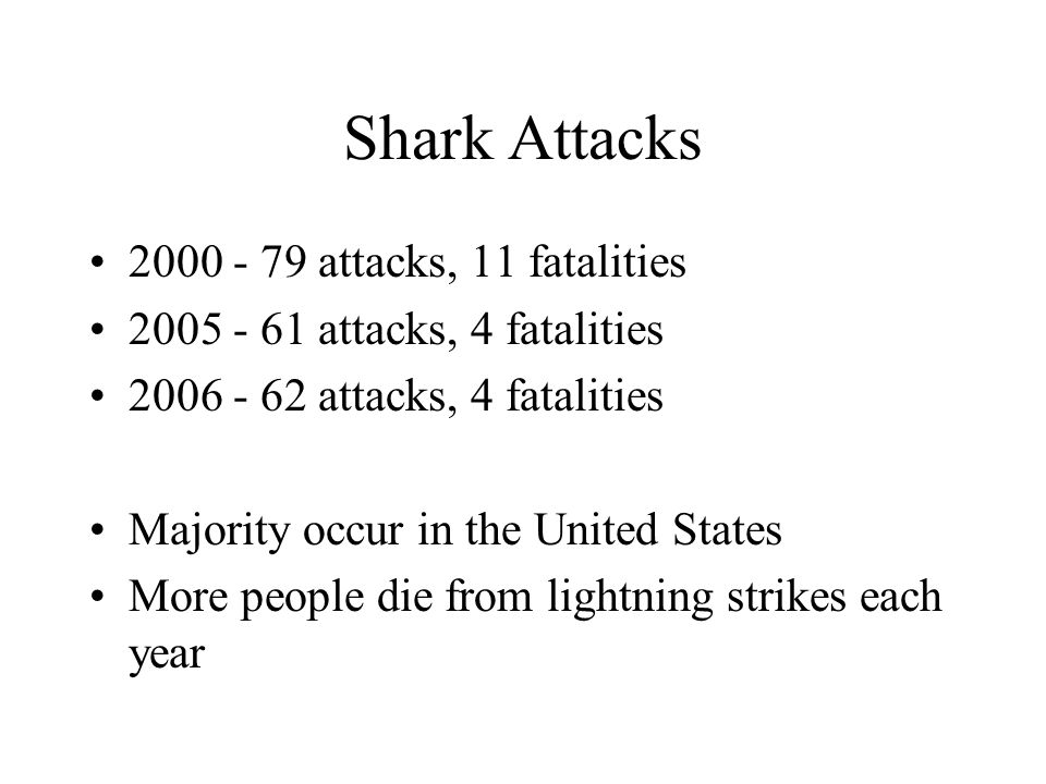 Shark Attacks 2000 - 79 attacks, 11 fatalities