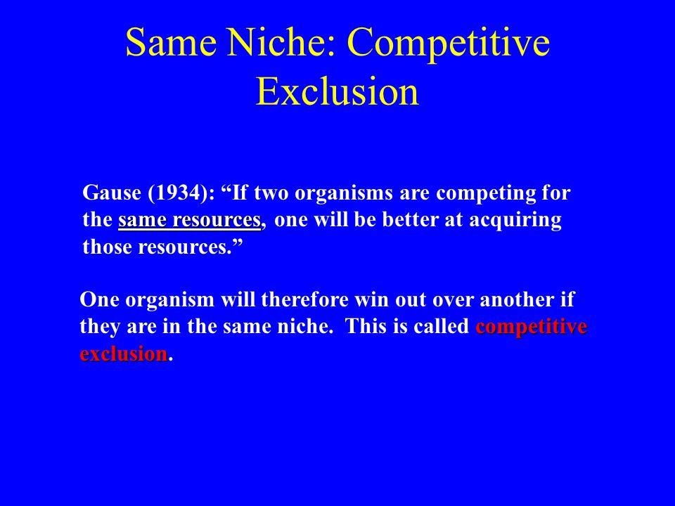 Same Niche: Competitive Exclusion