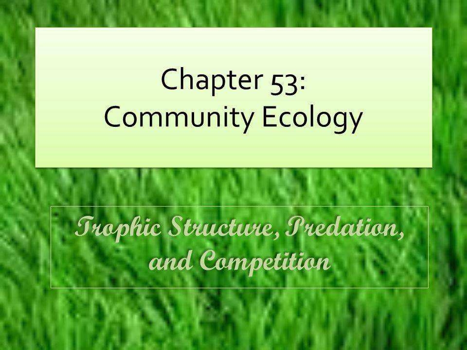 Chapter 53: Community Ecology