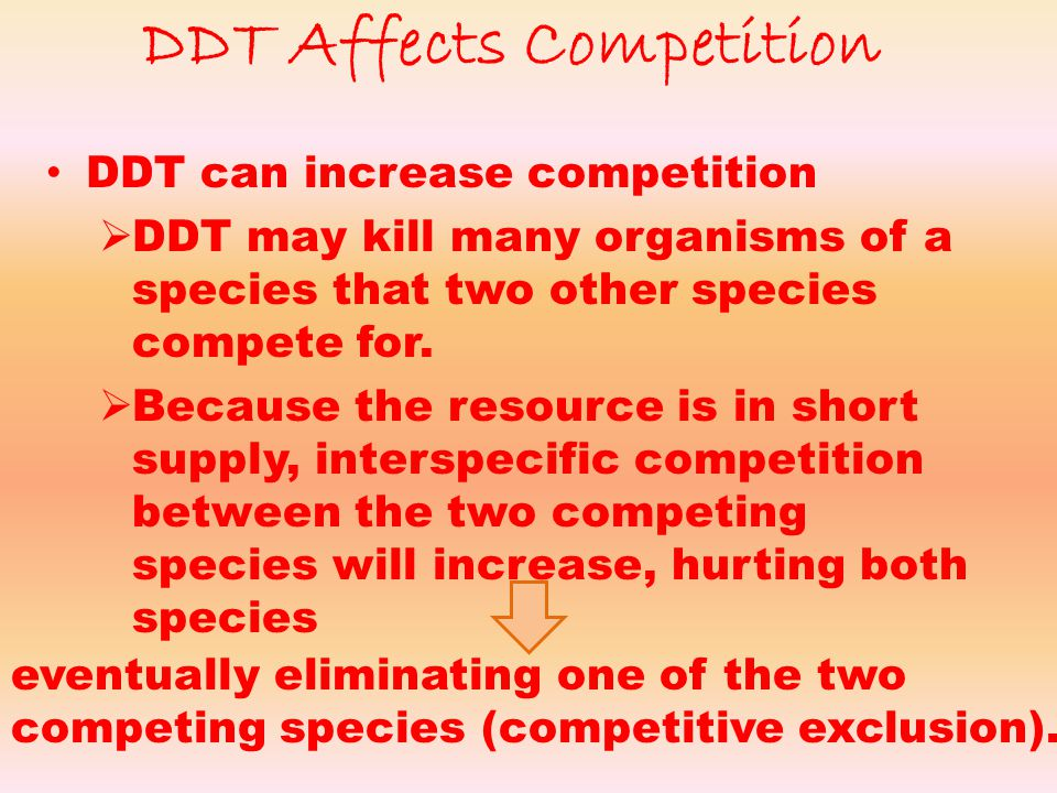 DDT Affects Competition