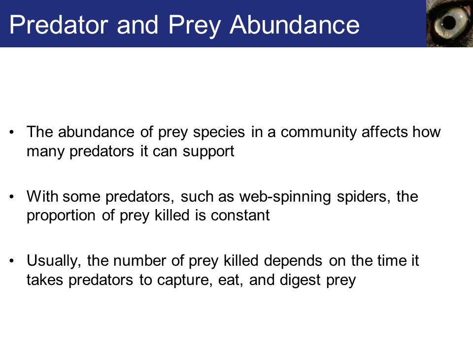 Predator and Prey Abundance