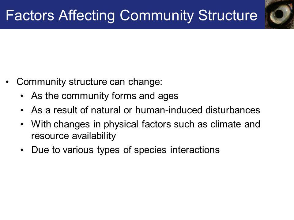 Factors Affecting Community Structure