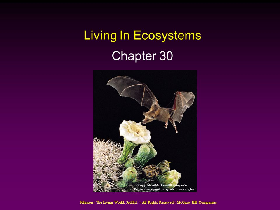 Living In Ecosystems Chapter 30