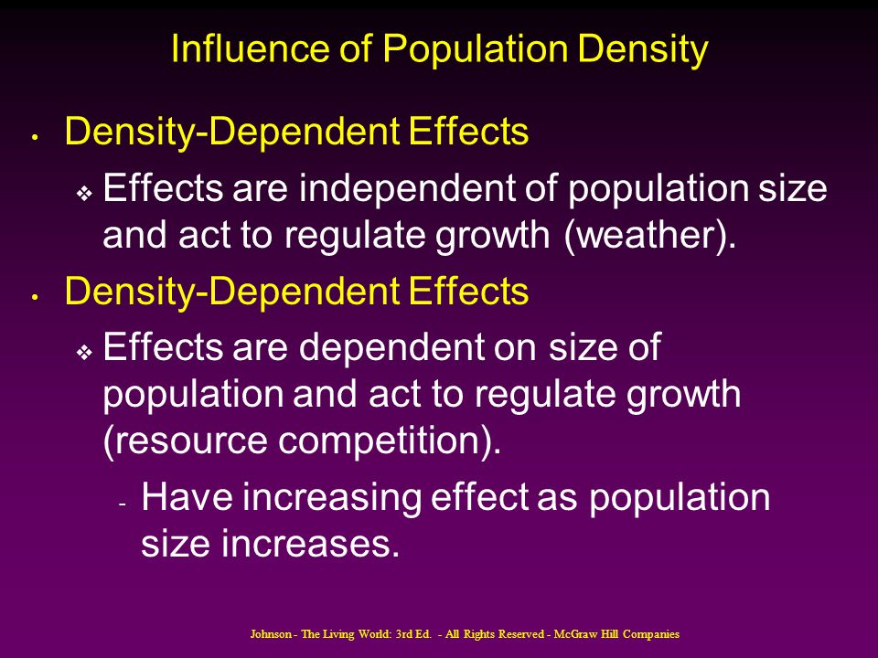 Influence of Population Density