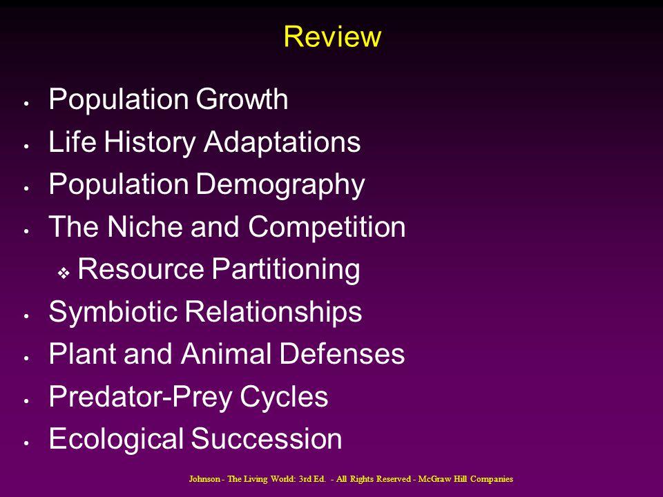 Life History Adaptations Population Demography