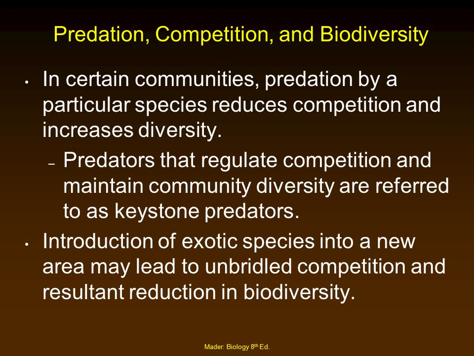 Predation, Competition, and Biodiversity