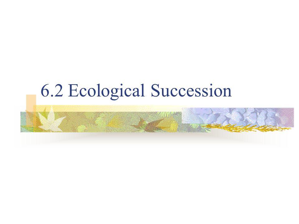 6.2 Ecological Succession