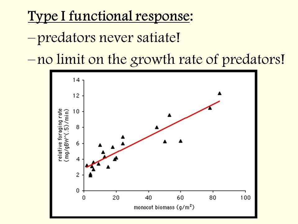 Type I functional response: