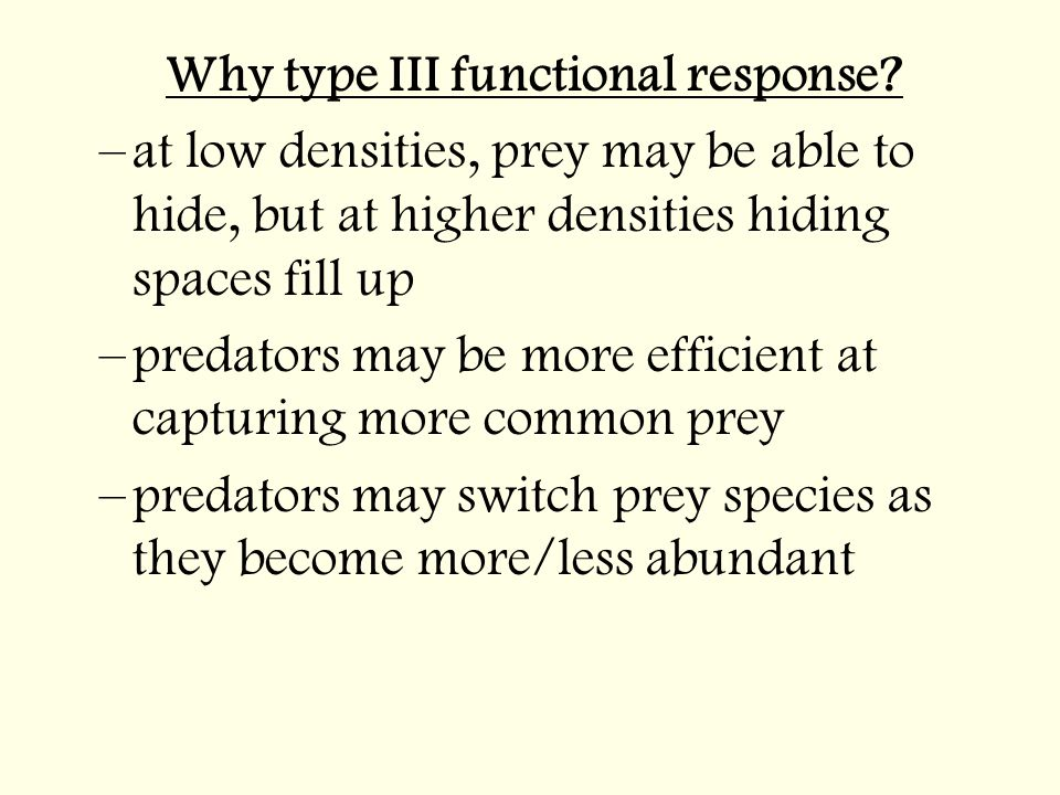 Why type III functional response