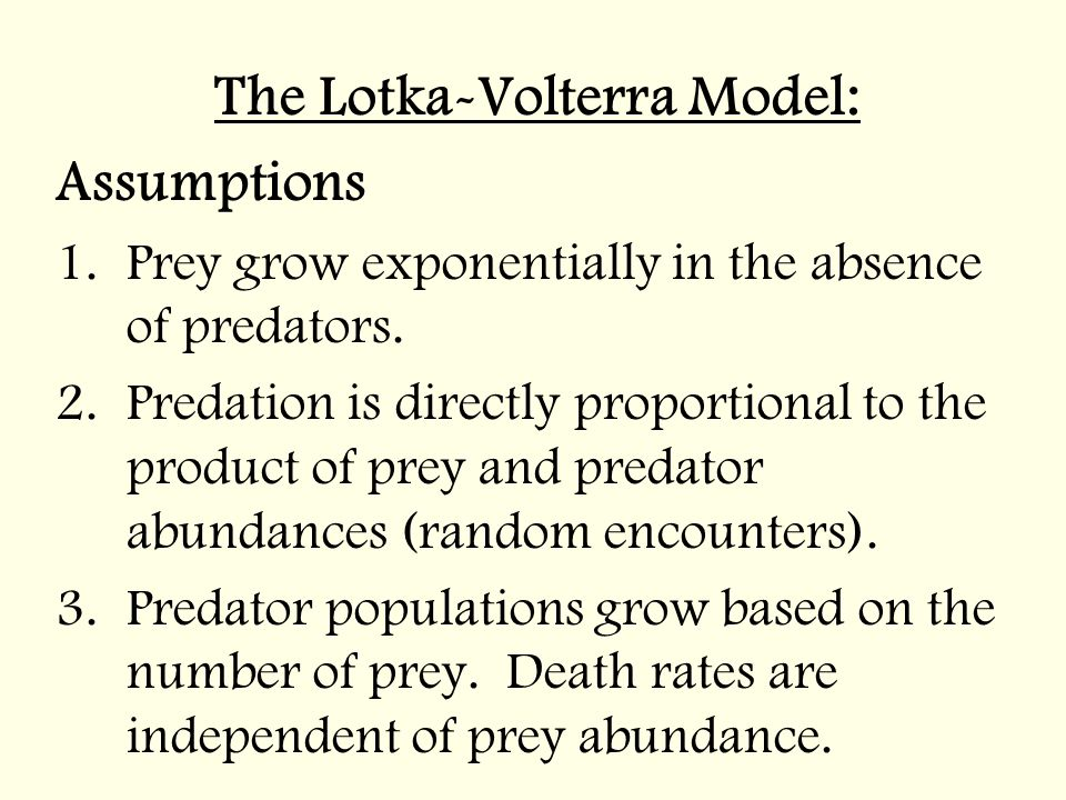 The Lotka-Volterra Model: