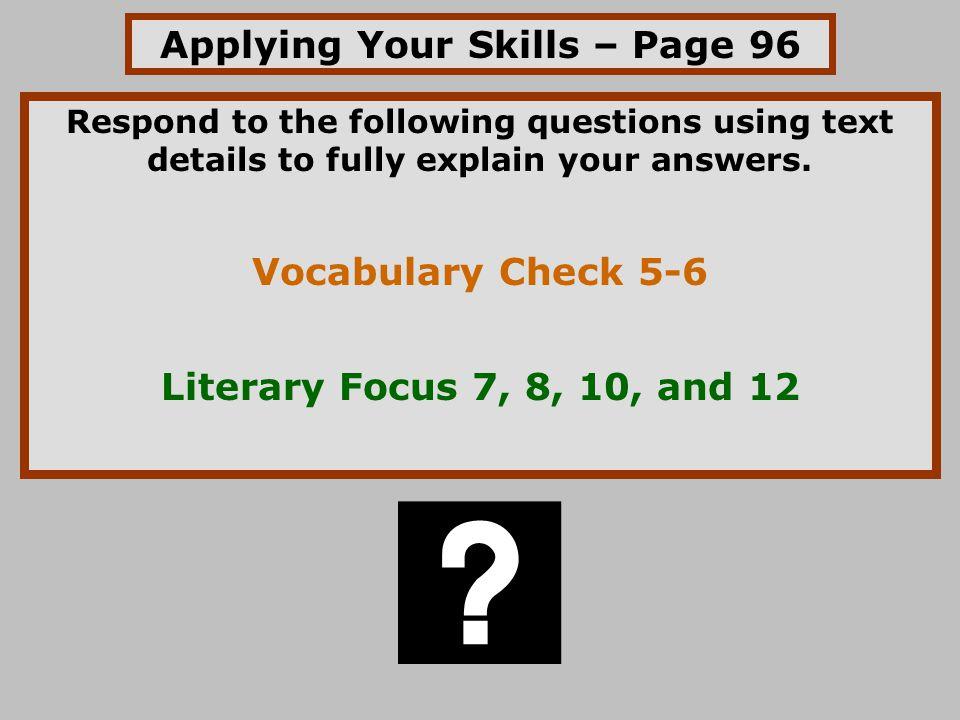 Applying Your Skills – Page 96
