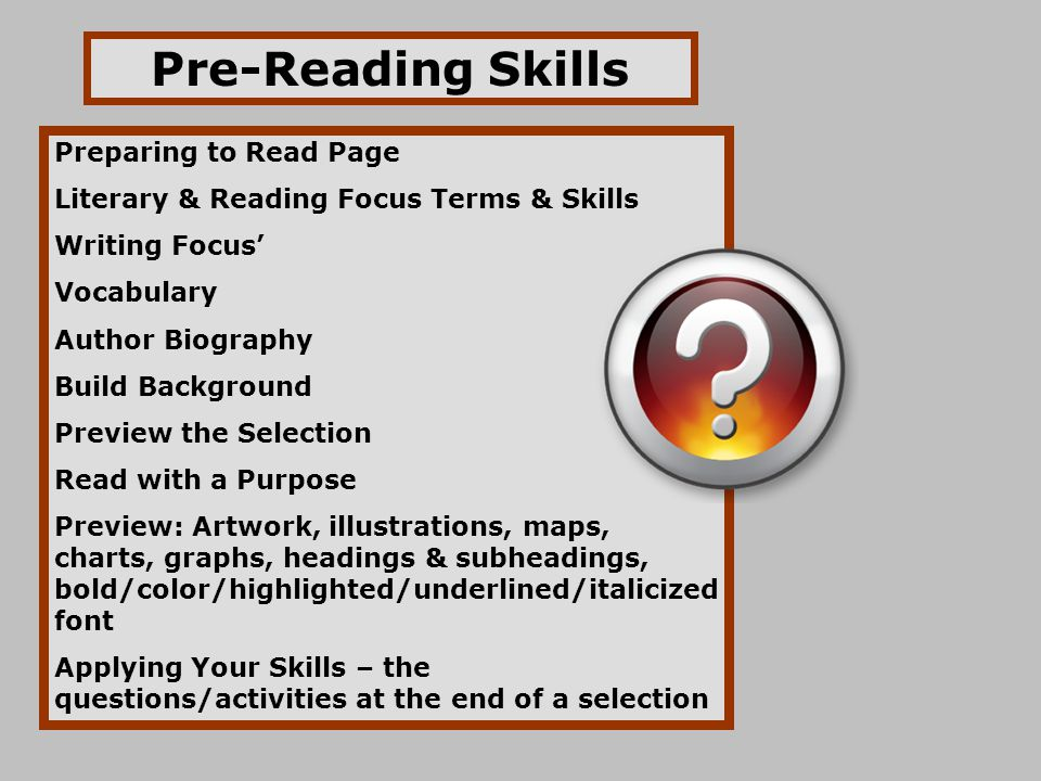 how to develop your reading skills