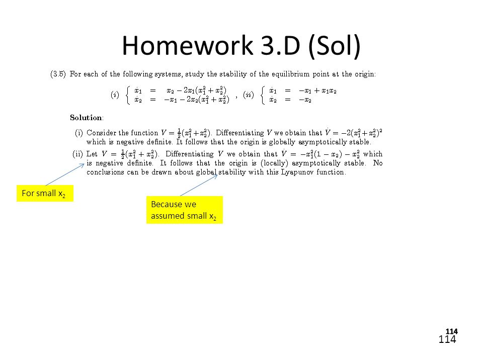 Homework 3.D (Sol) For small x2 Because we assumed small x2