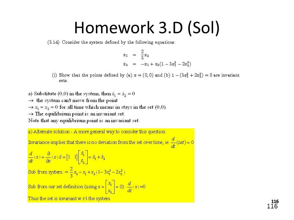 Homework 3.D (Sol)