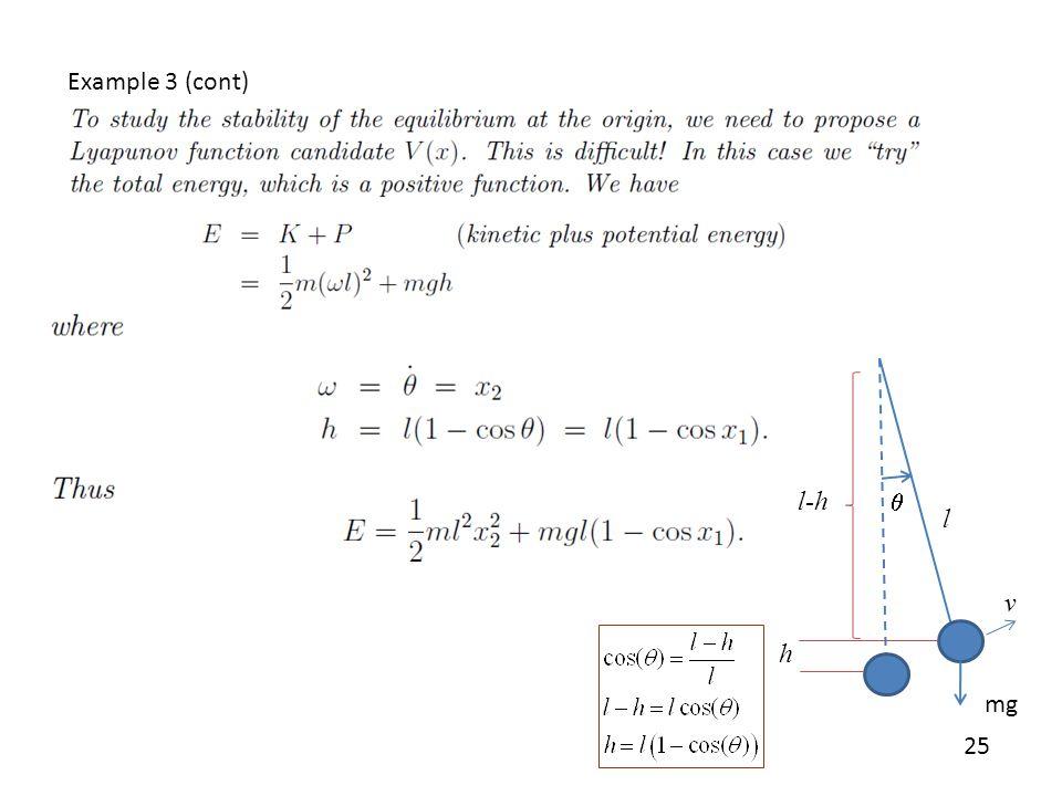 Example 3 (cont) l-h q l v h mg