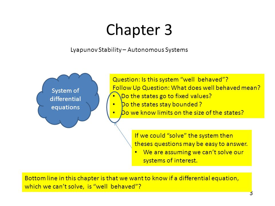 System of differential equations