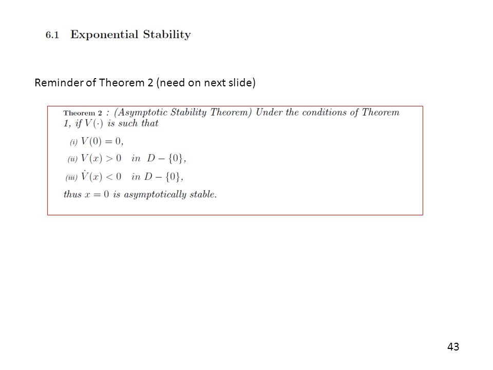 Reminder of Theorem 2 (need on next slide)