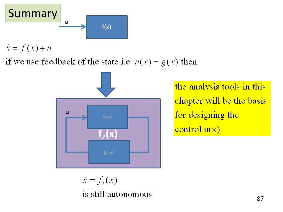 Summary u f(x) f2(x) u f(x) g(x)