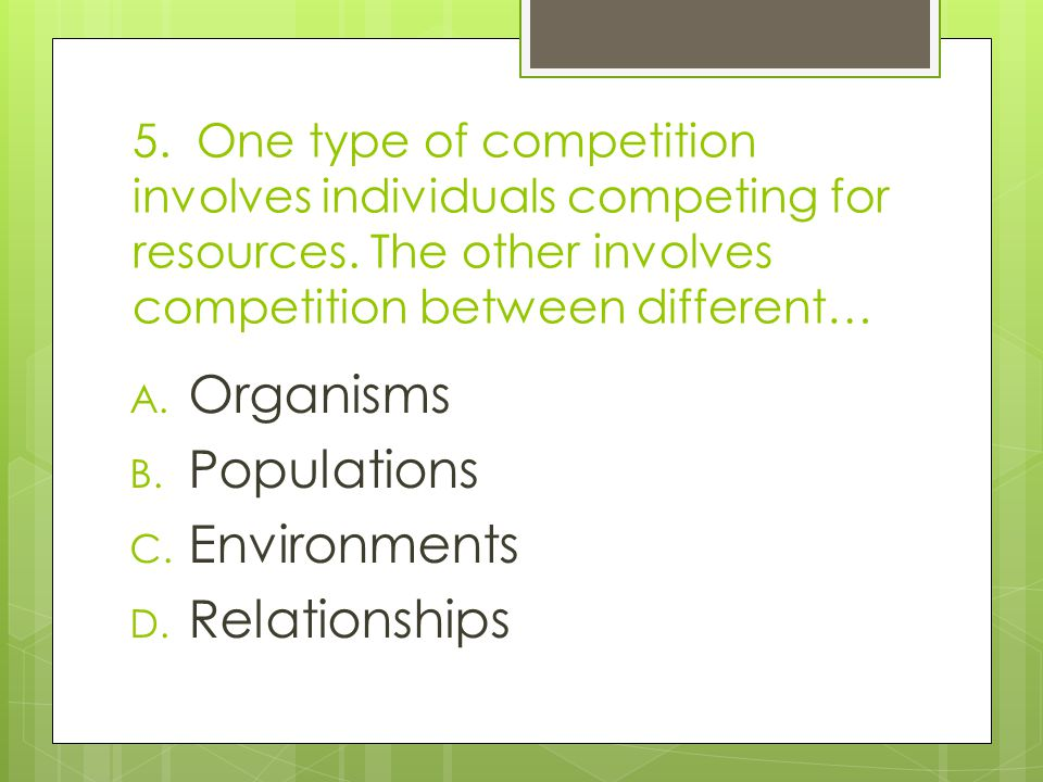 Organisms Populations Environments Relationships