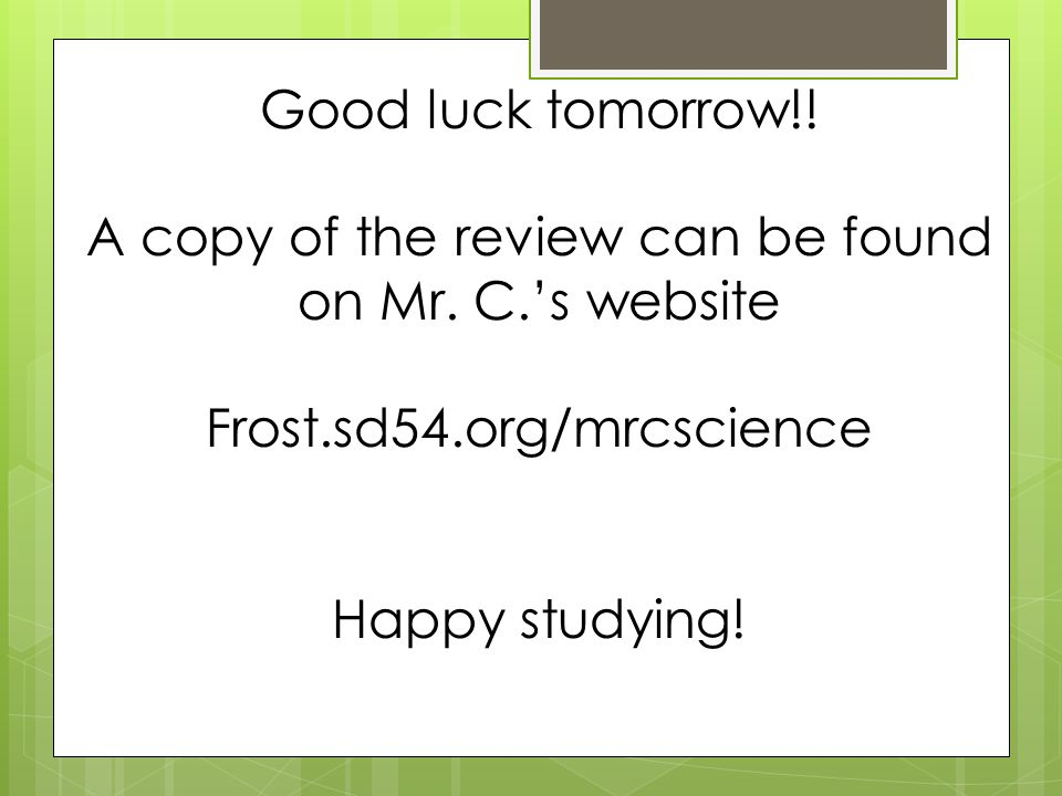 A copy of the review can be found on Mr. C.'s website
