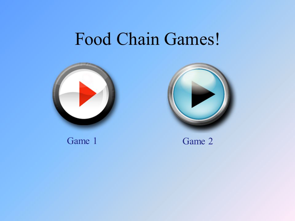 Food Chain Games! Game 1 Game 2