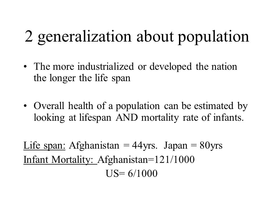 2 generalization about population