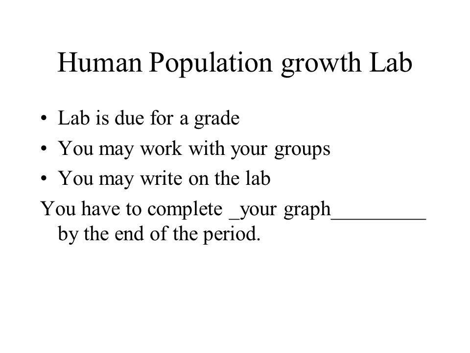 Human Population growth Lab