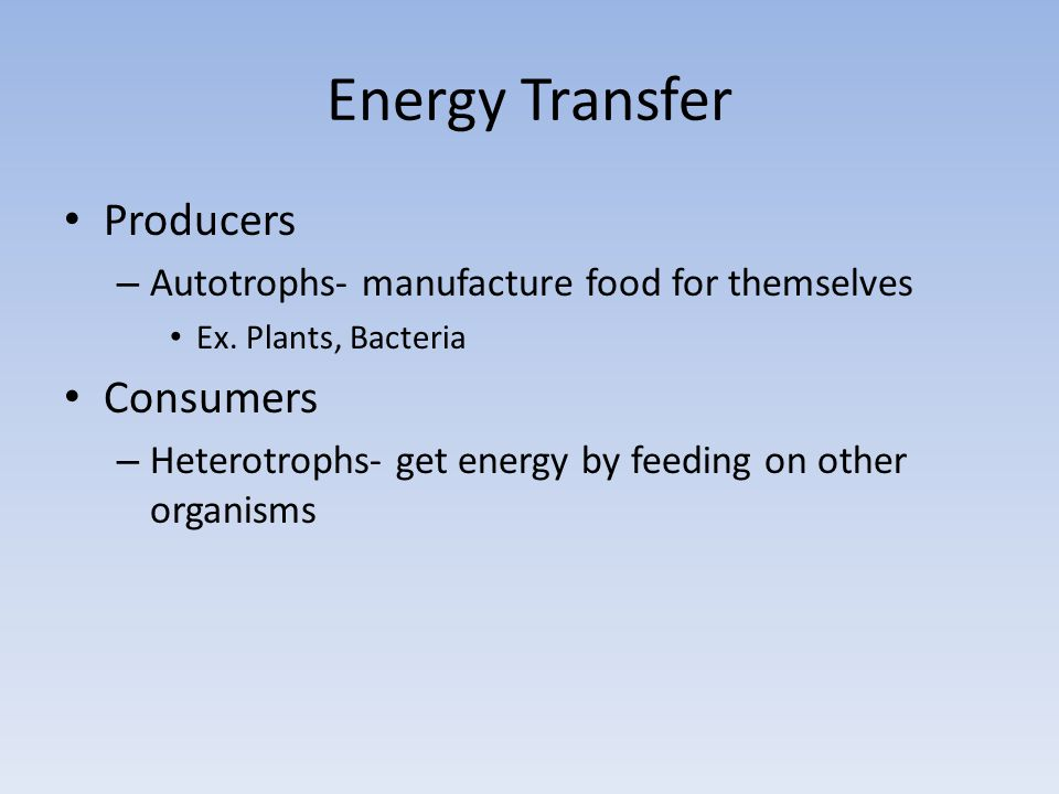 Energy Transfer Producers Consumers