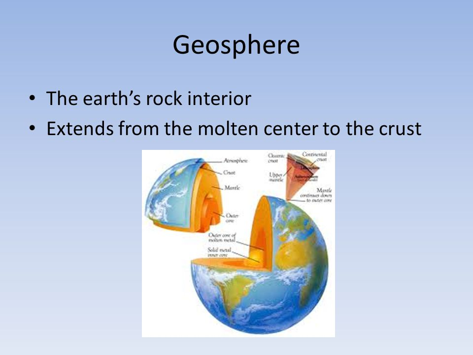 Geosphere The earth's rock interior