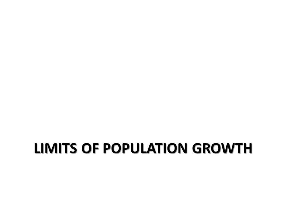 Limits of population growth