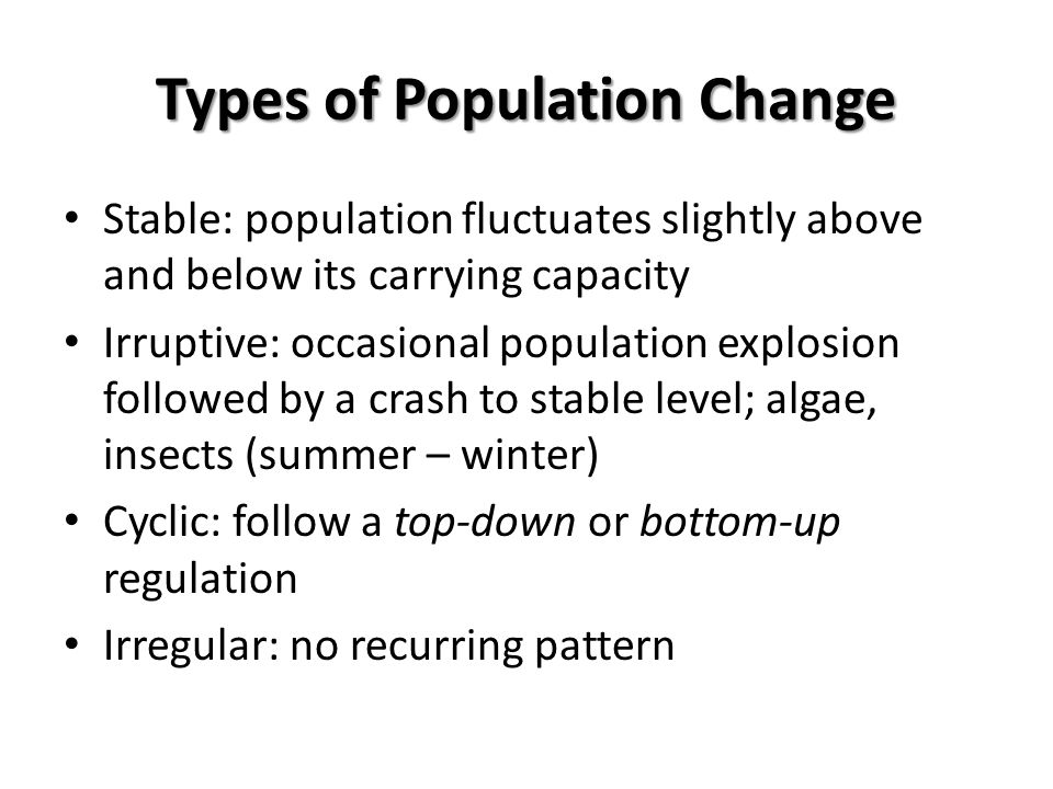 Types of Population Change
