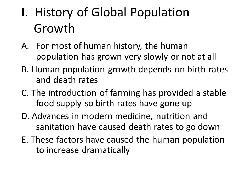 I. History of Global Population Growth