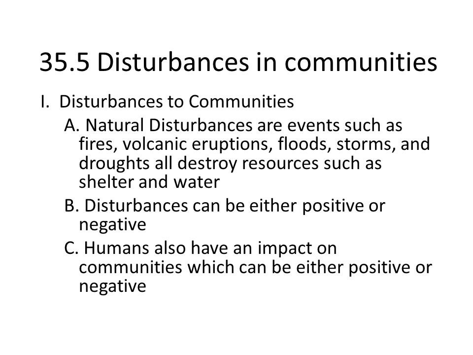 35.5 Disturbances in communities